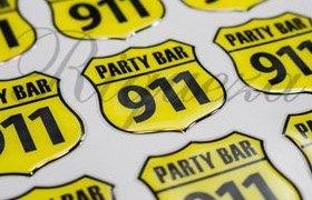 Шильды киев, изготовление шильдов Party Bar 911